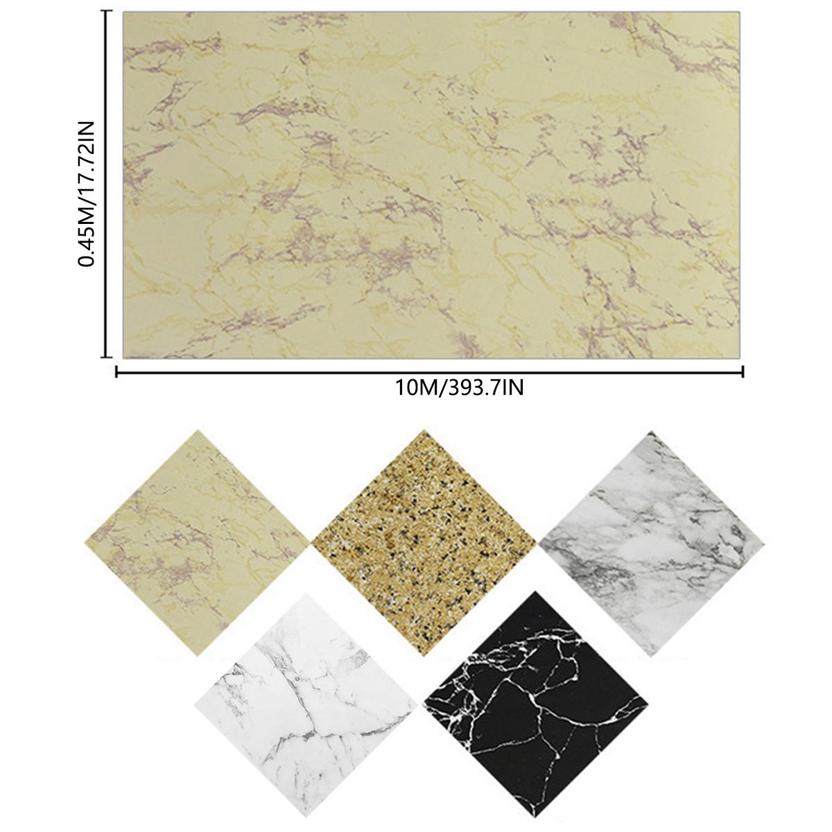 10M Marble Wallpaper Self Adhesive Furniture Film Wall Stickers Kitchen Decor