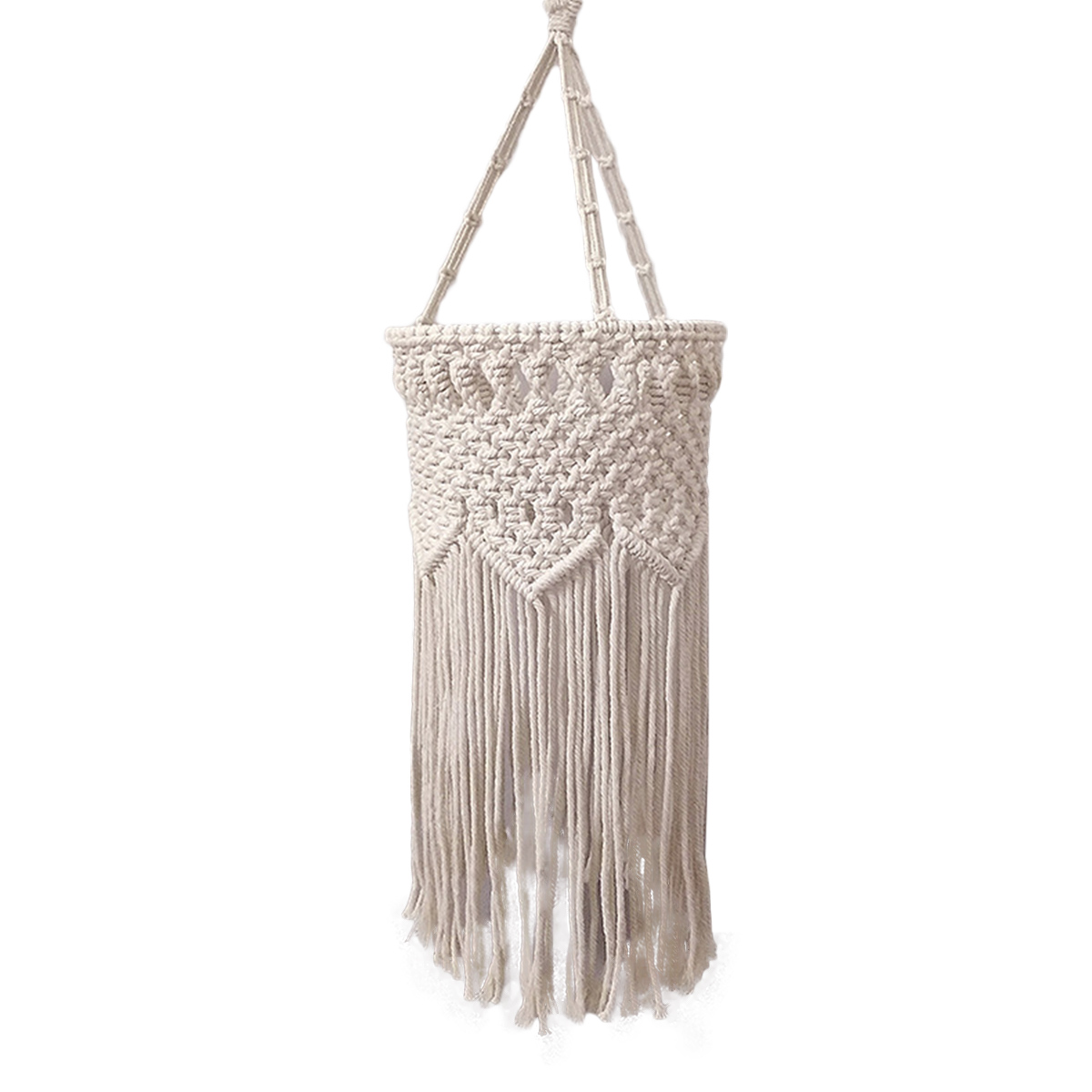 Macrame Lampshade Boho Ceiling Pendant Light Cover Macrame Hanging Lamp Shade Ebay