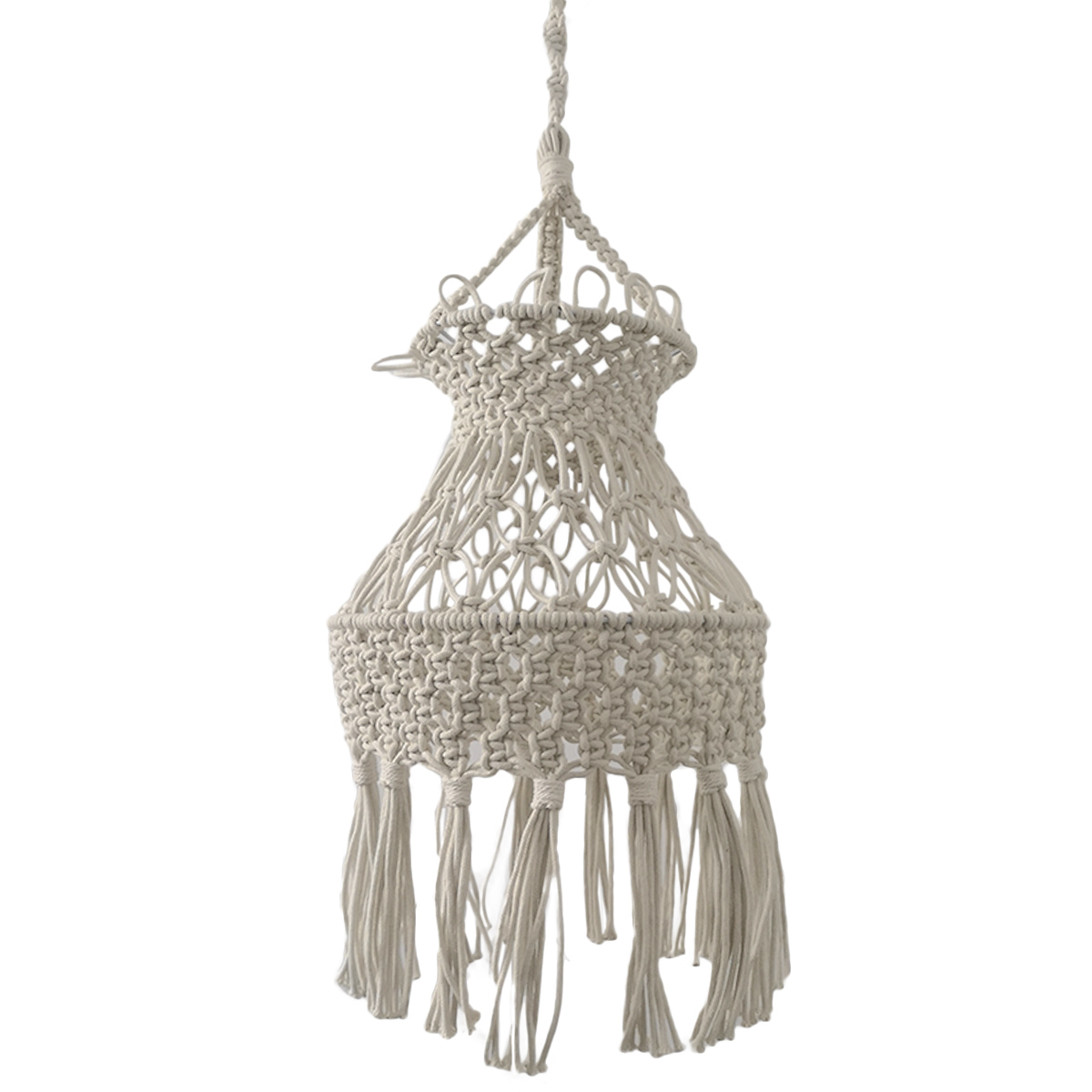 Vintage Handmade Macrame Lampshade Ceiling Pendant Light Shade Boho Art Decor Ebay