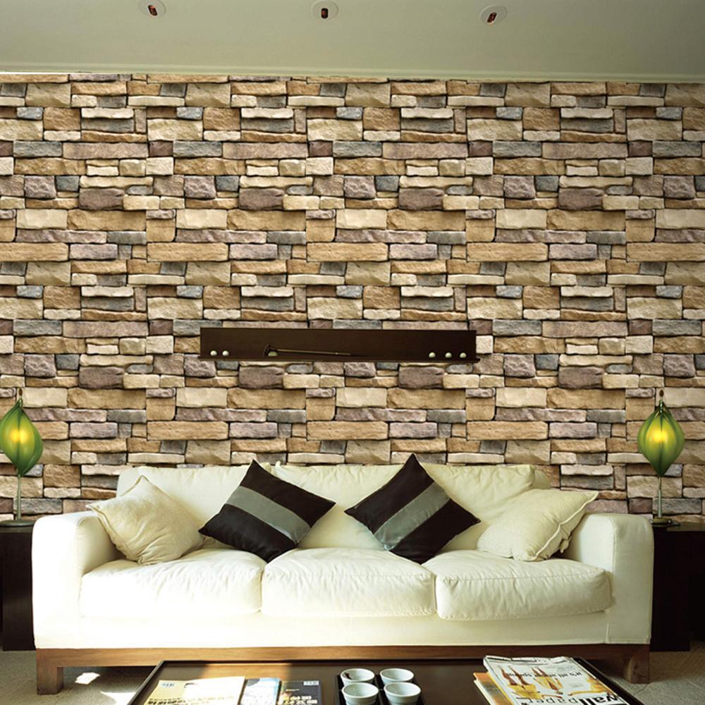 10m 3d Grey Brick Self Adhesive Wallpaper Peel And Stick Bedroom Living Room Ebay